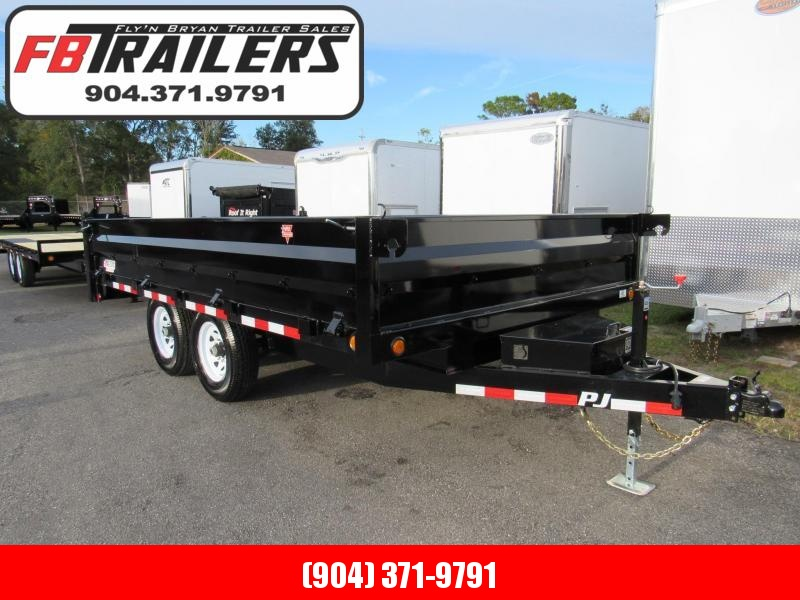 2019 PJ Trailers 14 ft Drop Side Deckover Dump Trailer