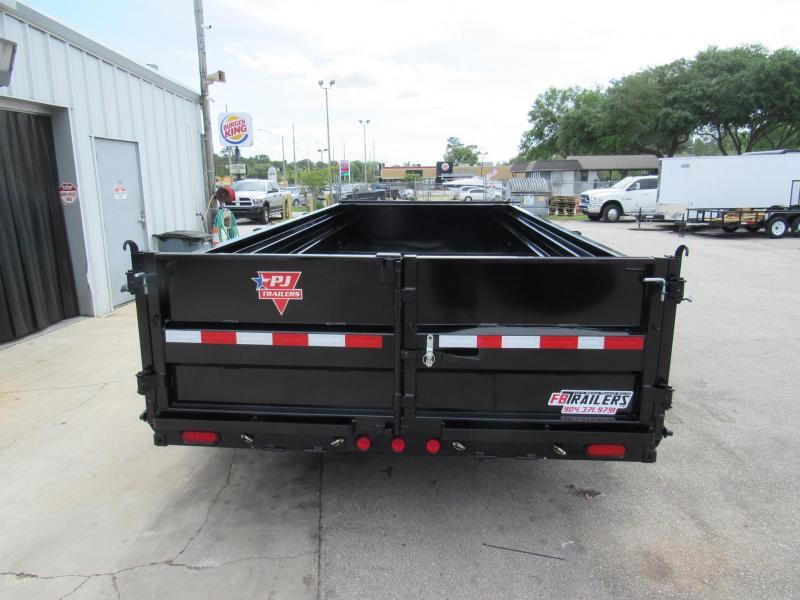 2020 PJ Trailers 16ft with 2ft Sides Dump Trailer