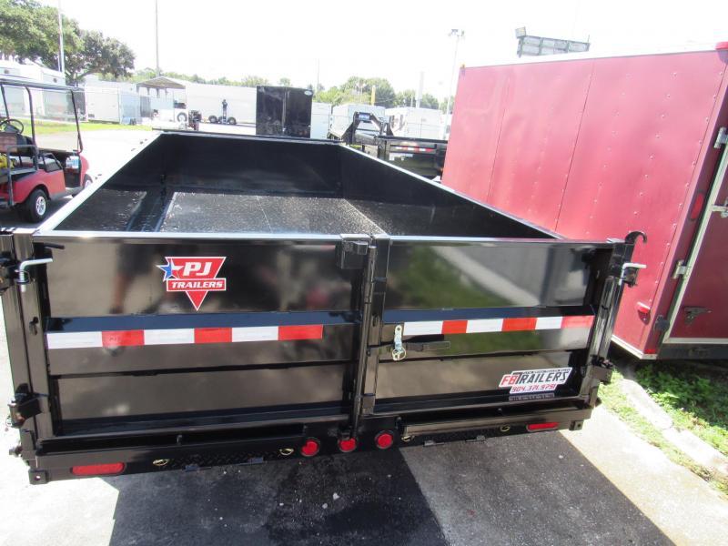 2020 7x16 Low Side Dump Trailer by PJ Trailers