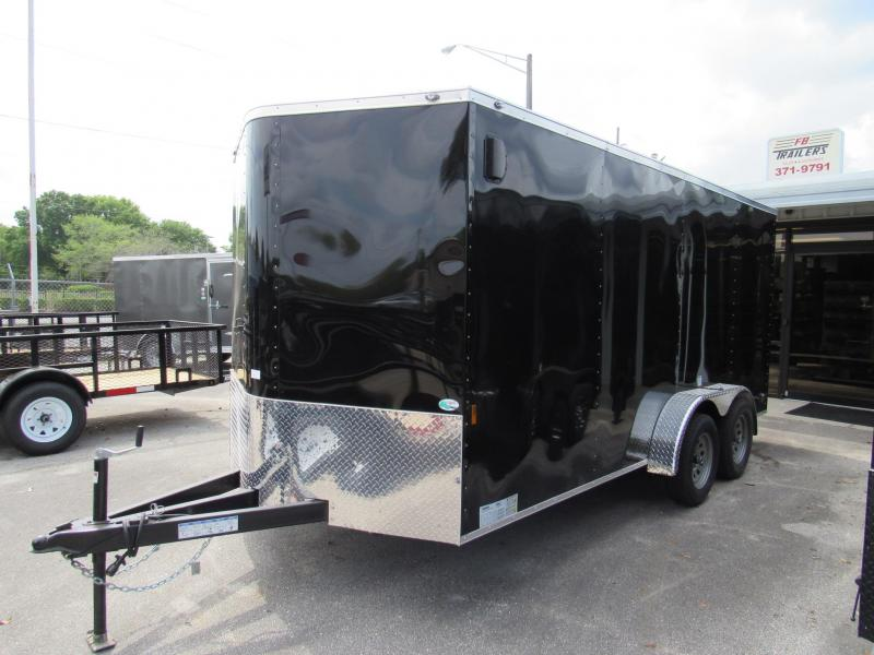 2020 Continental Cargo 7X16 With Extended Triple tube tongue Enclosed Cargo Trailer