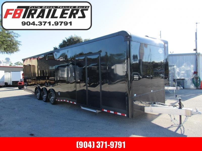 2020 Cargo Mate 34ft Aluminum Frame Black Out Car / Racing Trailer