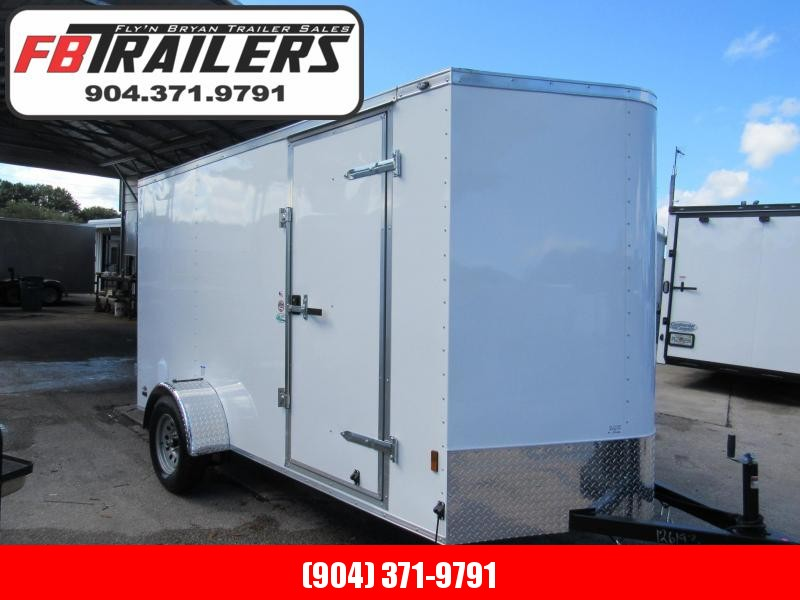 2020 Continental Cargo 6X12 Rear Double Door Enclosed Cargo Trailer