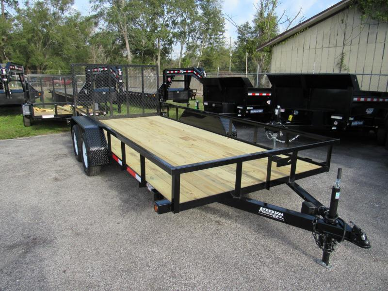 2020 Anderson Manufacturing 7X16 Utility Trailer