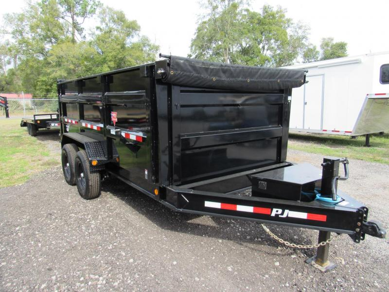 2020 PJ Trailers 7X14 with 4ft Sides Dump Trailer