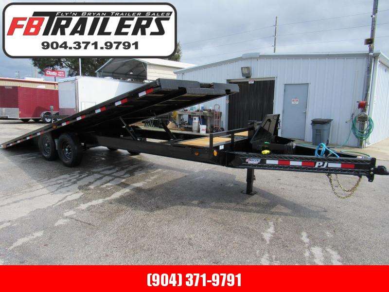 2020 PJ Trailers 24ft Deckover Tilt Equipment Trailer