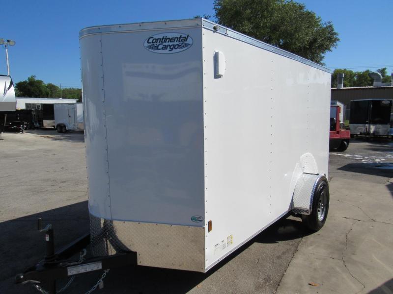 2020 Continental Cargo 6X12 with 5200lb Axle Enclosed Cargo Trailer