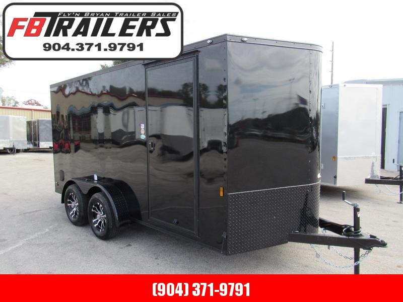 2020 Continental Cargo 7X14 Black Out Edition Enclosed Cargo Trailer