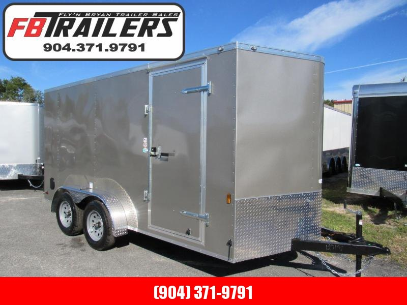 2020 Continental Cargo 7X14 Pewter Enclosed Cargo Trailer