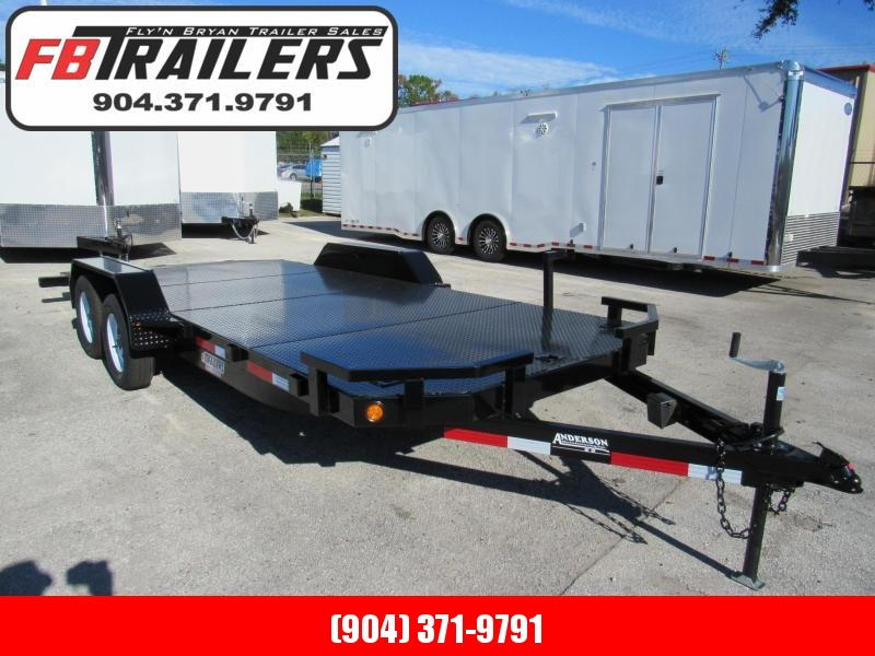 2020  20ft Steel Deck Open Car  Race Trailer  by Anderson Manufacturing