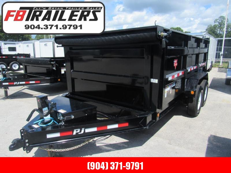 2020  14ft  Dump Trailer with 4' Sides by PJ Trailers