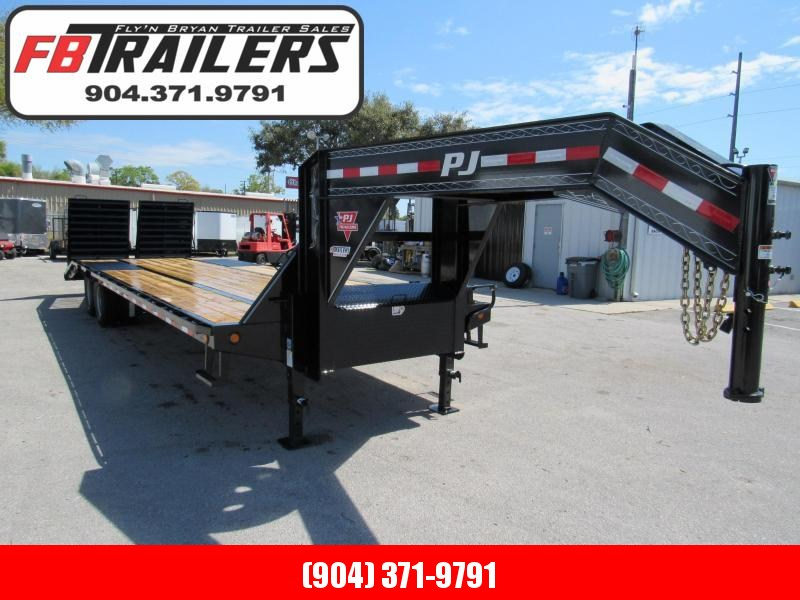 2019 PJ Trailers 30 Ft with Monster Ramps Equipment Trailer