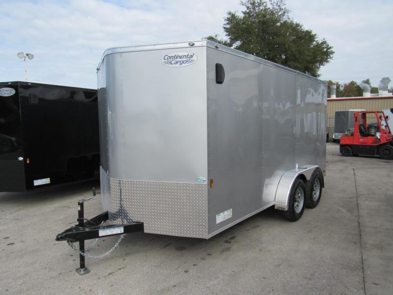 2020 Continental Cargo 7X14 Tandem Axle Enclosed Cargo Trailer