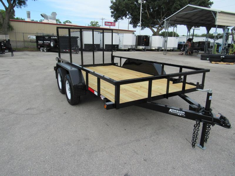 2020 Anderson Manufacturing 6X12 Tandem Axle Utility Trailer