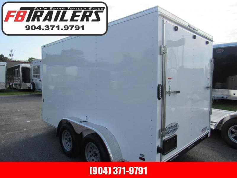2020 Continental Cargo 7X12 Tandem Axle Enclosed Cargo Trailer