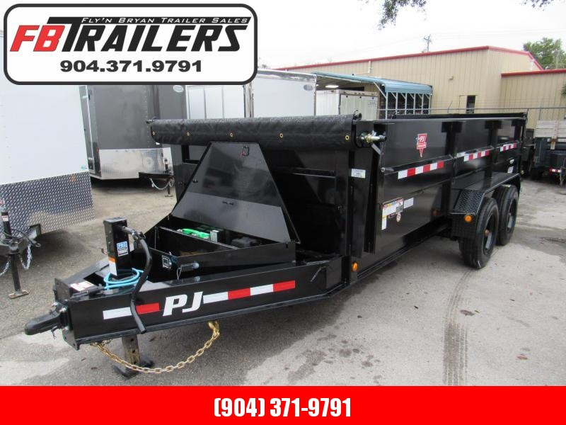 2020 PJ Trailers 16ft with 3ft sides 10K axles Dump Trailer