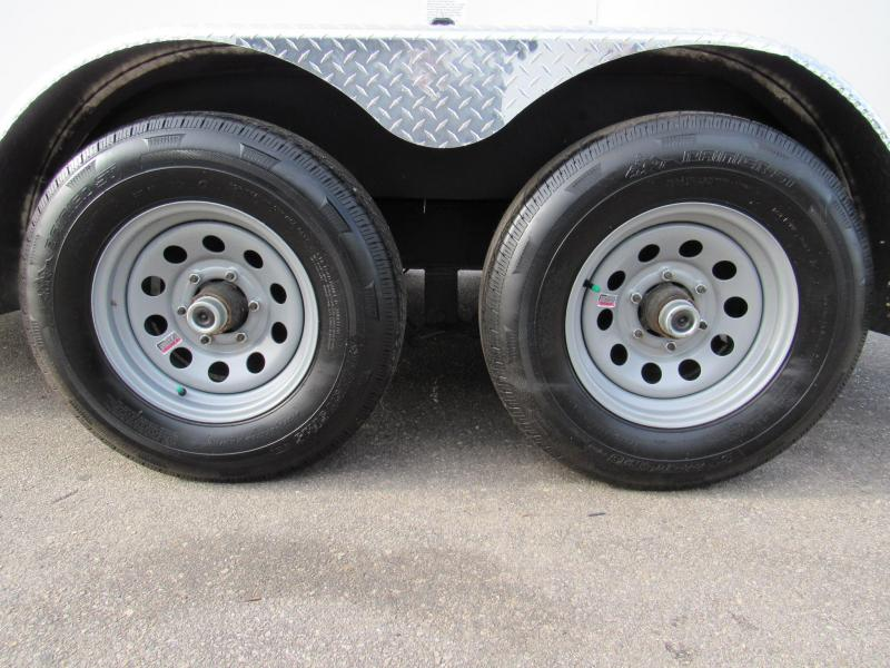 2020 Continental Cargo 7X12 with 5200lb Axles Enclosed Cargo Trailer