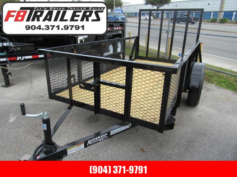 2020 Anderson Manufacturing 5X10 with 2' Mesh Sides Utility Trailer