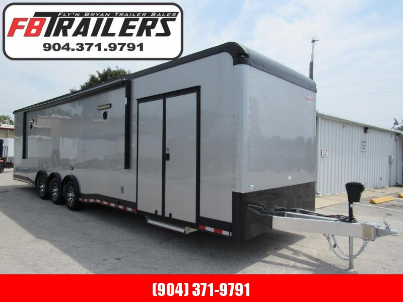 2020 Cargo Mate 34 ft Aluminum Frame Black Out Car / Racing Trailer
