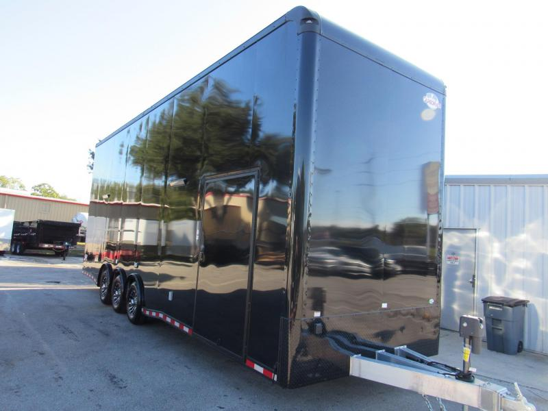 2020 Cargo Mate 30ft Aluminum Frame Black Out Stacker Enclosed Cargo Trailer