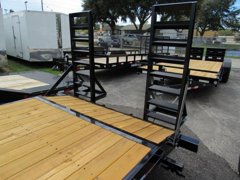 2019 Sure-Trac 20ft Fold up Ramps Equipment Trailer