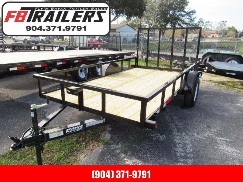 2020 Anderson Manufacturing 6X12 Single Axle Utility Trailer