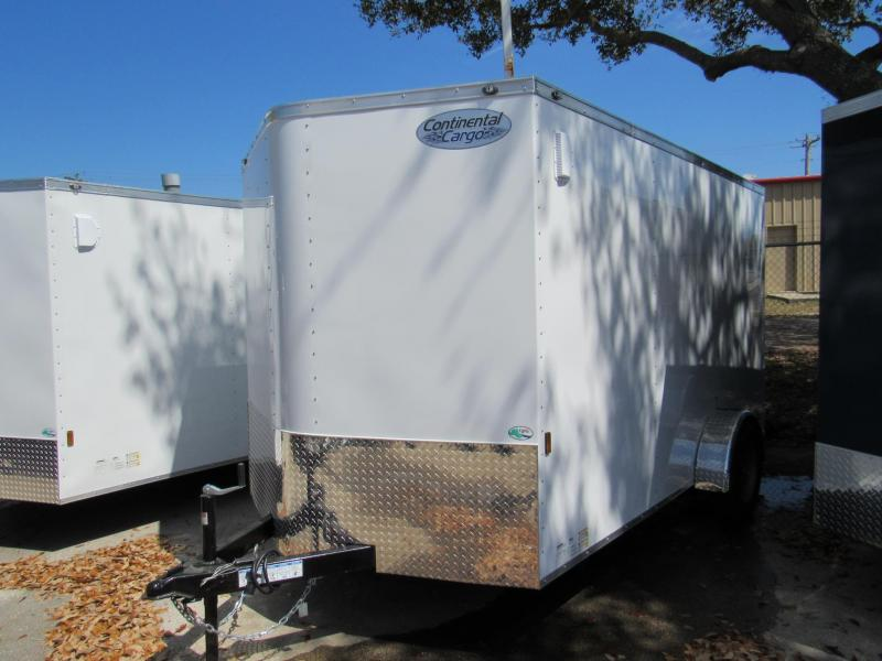 2020 Continental Cargo 7X12 Single Axle Enclosed Cargo Trailer