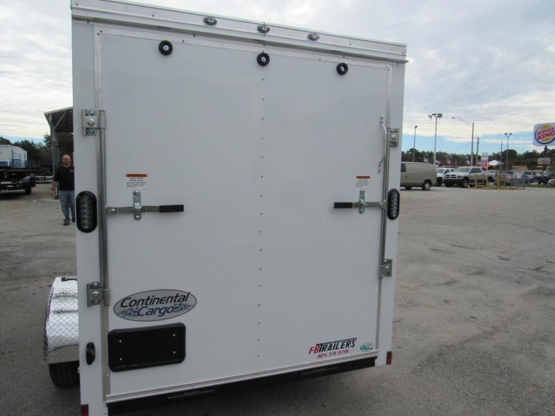 2020 Continental Cargo 6X10 Ramp door Enclosed Cargo Trailer