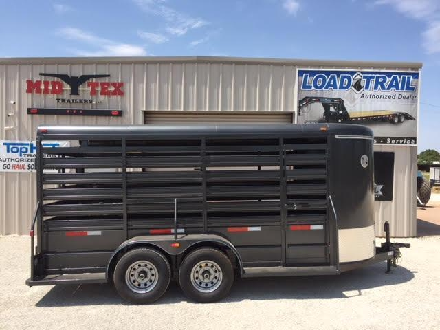2019 Top Hat Brahma 6x16 Stock / Stock Combo Trailer