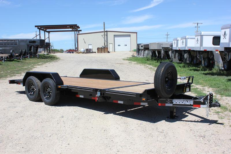 2019 Titan Trailer Bumper Hitch Tilt Deck