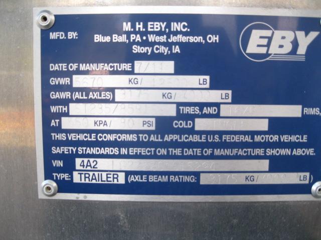 2012 Eby 22 Ft. 2+1 Gooseneck