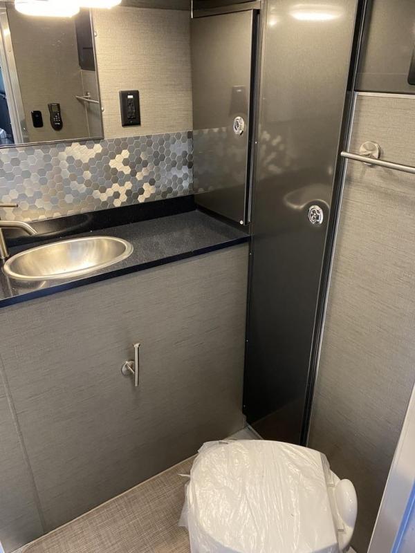 2020 Aluminum Trailer Company ARV 8.5x28 front bathroom Toy Hauler RV