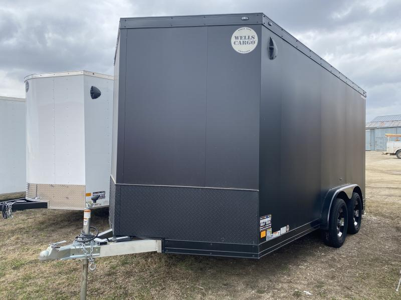 "2019 Wells Cargo 7'6"" X 14' Motorcycle Trailer"