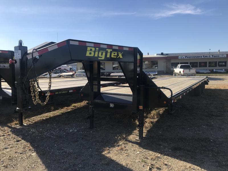 2019 BIG TEX 22GN 8.5' X 20' + 5' BEAVERTAIL GOOSENECK EQUIPMENT TRAILER
