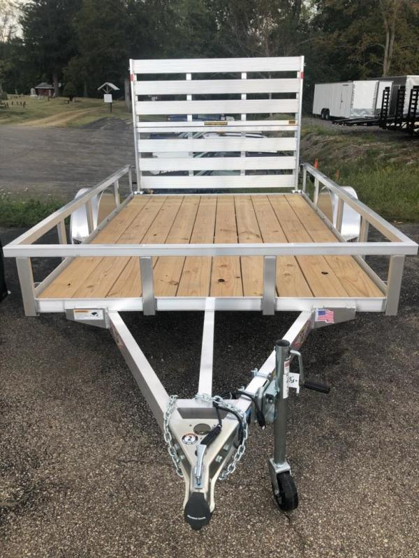 2019 H and H Trailer 8x10 Railside Alum Utility Trailer
