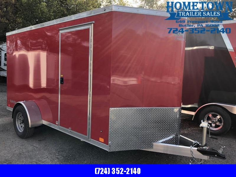 2019 ATC RAVEN (6' x 12') Single Axle Enclosed Cargo Trailer w/ Ramp