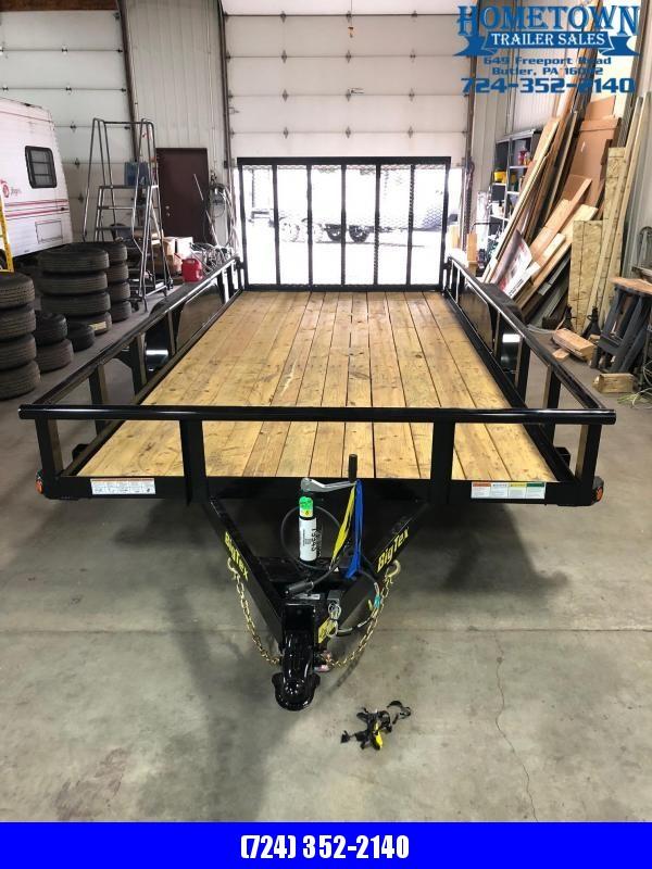 "2019 Big Tex 70PI-16 (6'9"" x 16') Tandem Axle Utility Trailer"