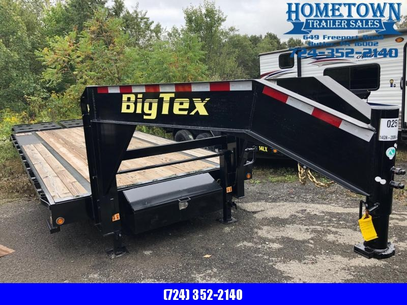 "2018 Big Tex 14GN 20+5 (8'5"" x 20') Tandem Axle Equipment Trailer"