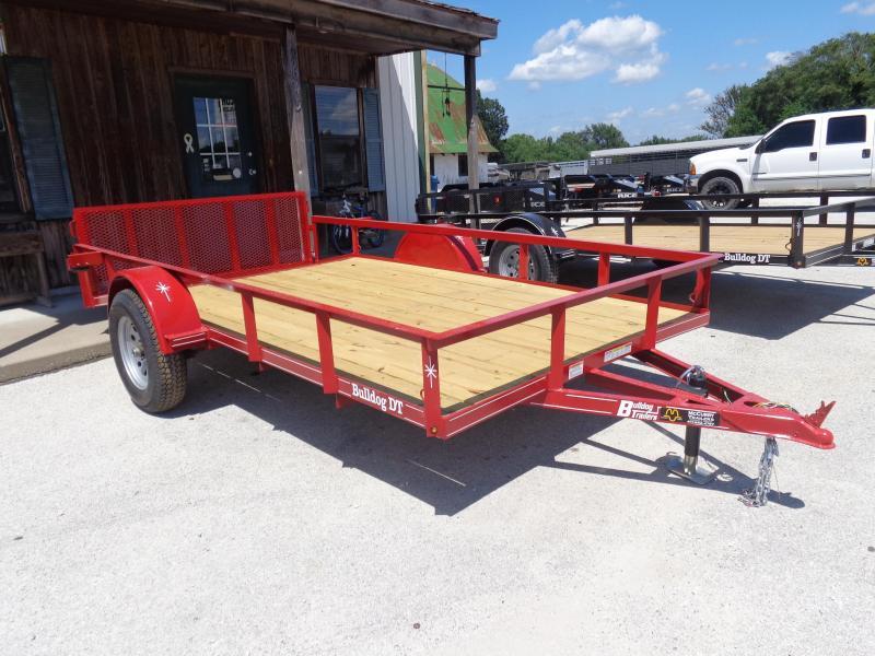 Bulldog 76 x 10'+2' Dovetail Red Utility Trailer