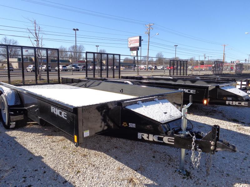Rice 82 x 16' Tandem Stealth Bumper Pull Black Utility Trailer