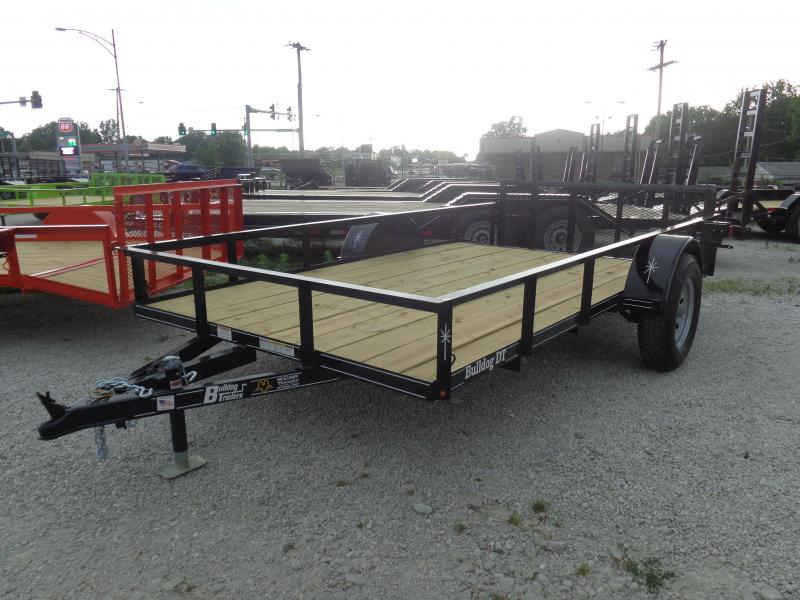 Bulldog 82 x 12+2 Dovetail Black Utility Trailer