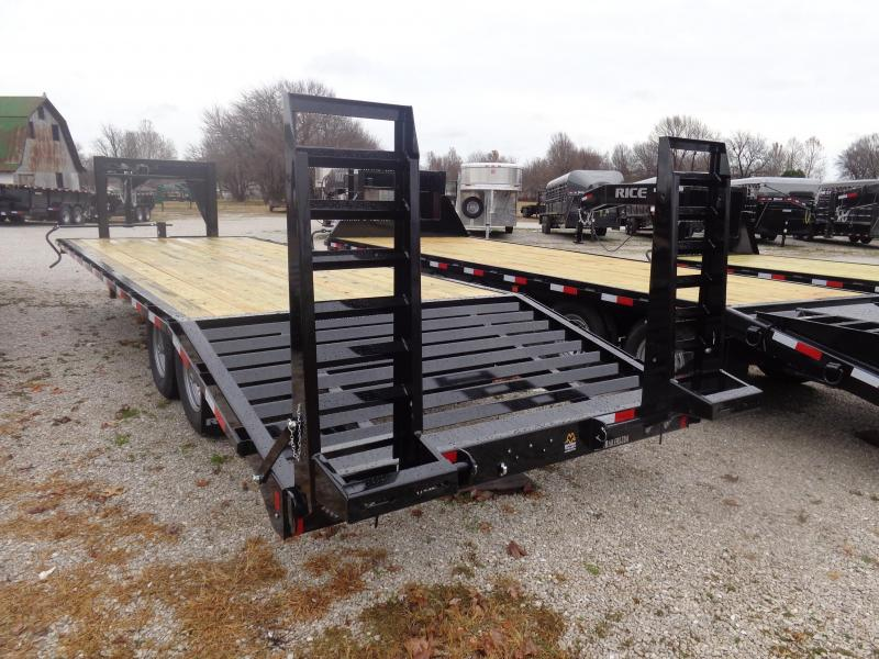 "Rice 102""x 20'+5' 14000# Gooseneck Deckover SE Model Equipment Trailer W/ 5' Stand Up Ramps"