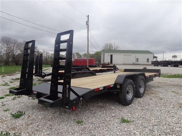 Rice 82 x 20'+2' 14000# Bumper Pull Heavy Duty Flatbed Trailer