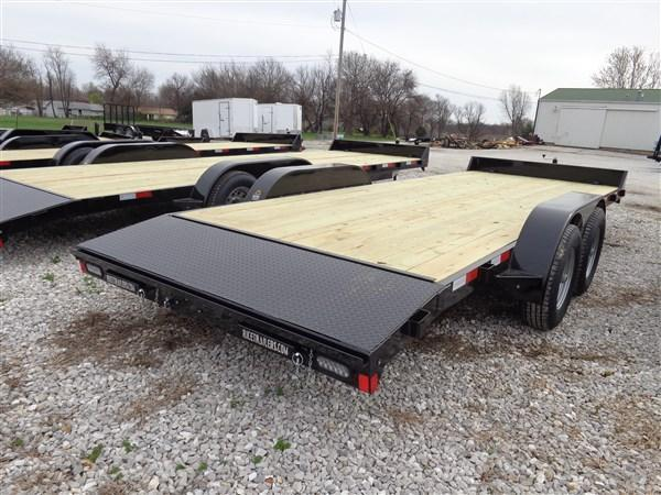 Rice 82 x 20'+2' 9900# Upgraded Car Hauler Bumper Pull Flatbed Trailer