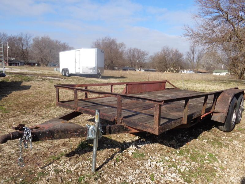 "USED 1988 STARL 76"" x 16' Tandem Utility Trailer"