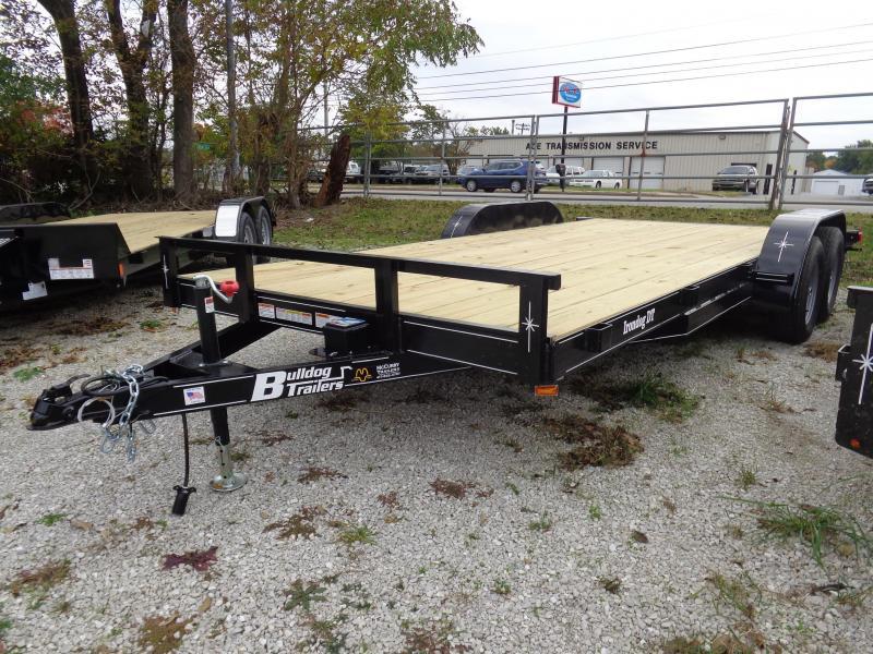 Bulldog 82 x 16' + 2' Bumper Pull 7000# Economy Car Hauler Flatbed