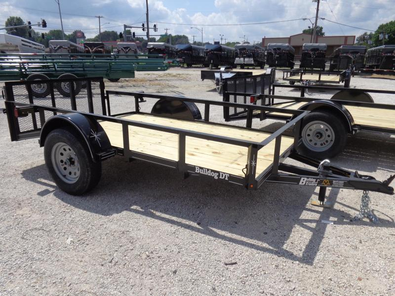 Bulldog 60 x 8'+2' Dovetail Black Utility Trailer