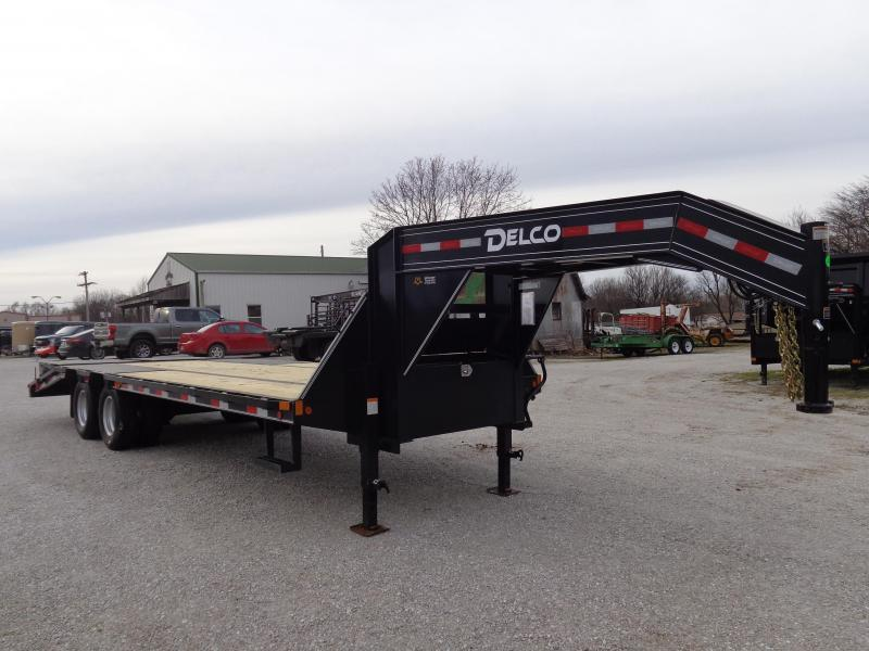 """Delco"" 102"" x 20'+5' 20000# Low Pro Monster Ramps Gooseneck Deckover Trailer"
