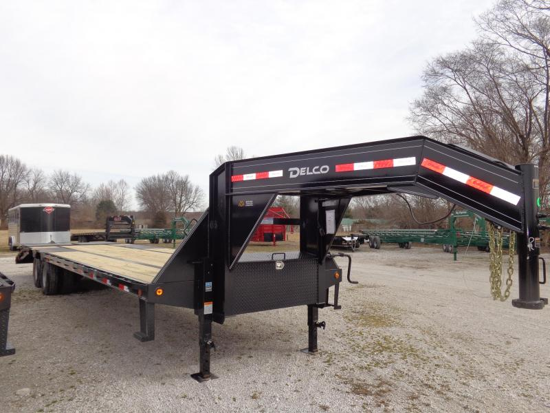 """Delco"" 102"" x 20'+5' Low Pro Monster Ramps Gooseneck Deckover Trailer"