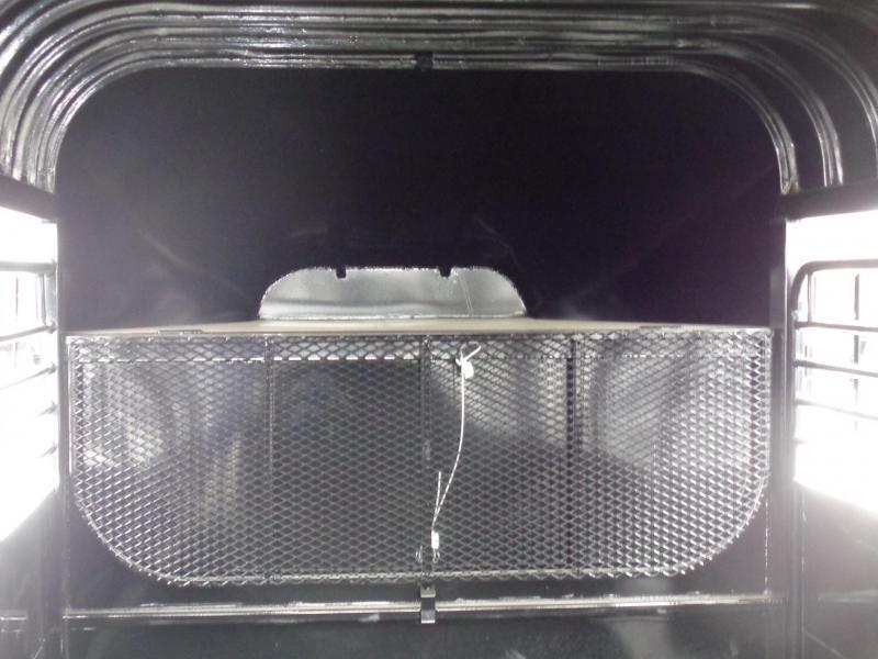 Delco 24' x 6'8 Premium Metal Top Powder Coated Black Gooseneck Stock Trailer with Slide & Swing Tail Gate