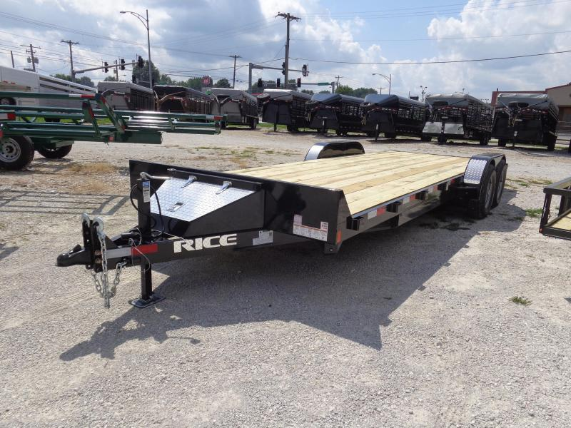 Rice 82+18'+2' 9900# Upgraded Car Hauler Bumper Pull Flatbed Trailer